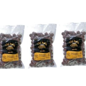 Pachet 3 kg Boilies Nadire Fierte 20 mm aroma Squid Octopus Strawberry by Accesfishing