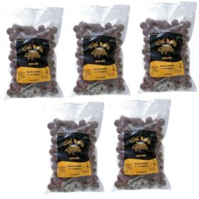 Pachet 5 kg Boilies Nadire Fierte 20 mm aroma Squid Octopus Strawberry by Accesfishing