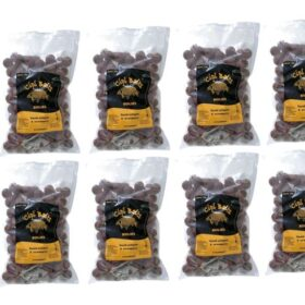 Pachet 10 kg Boilies Nadire Fierte 20 mm aroma Squid Octopus Strawberry by Accesfishing