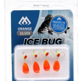 Ice bug orange-gold-4mm -4buc tungsten
