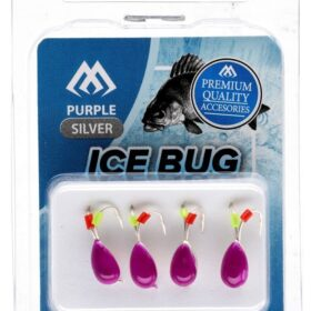 Ice bug violet- gold-4mm -4buc tungsten