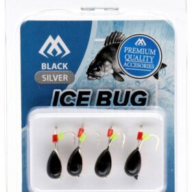 Ice bug black- black-4mm -4buc tungsten