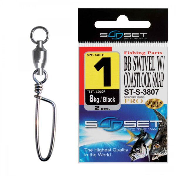 Agrafa Vartej Rulment Sunset ST-S-3807 No.1 BB Swivel Coastlock Snap