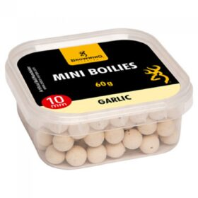 Boilies Browning Mini Boilie pre-drilled white/nature Garlic 10mm