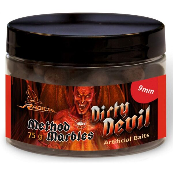 Boilies Radical Method Marbles Dirty Devil 9mm 75g