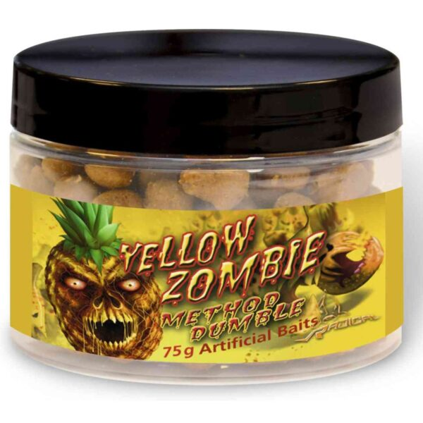 Boilies Radical Method Marbles Yellow Zombie 9mm 75g
