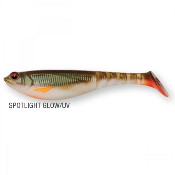 Shad DAM Effzett Shadster Power Tail 8cm 5.6gr Spotlight Glow UV