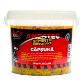 Galeata 5kg, cereale in lichid aromat, capsuna, by Accesfishing