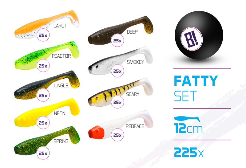 Set de momeli BOMB Fatty / 225buc