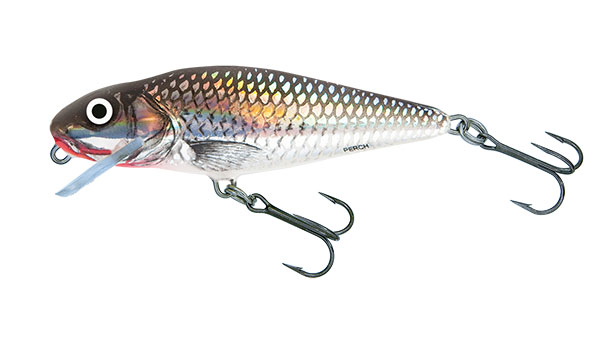 Vobler Salmo Perch Shallow Runner Holographic Grey Shiner 12cm