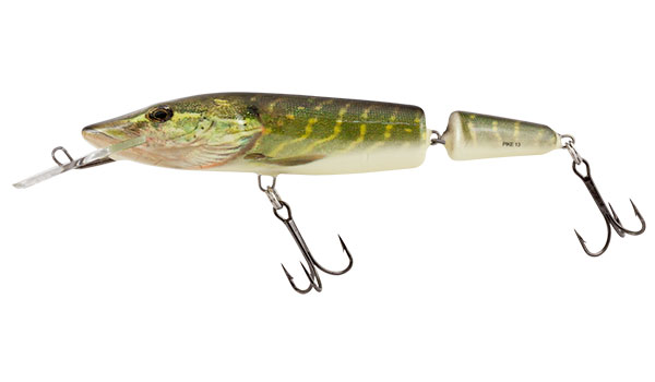 Vobler Salmo Pike Jointed Deep Runner Real Pike 13cm
