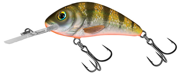 Vobler Salmo Rattlin Hornet Floating Yellow Holographic Shad 3.5cm