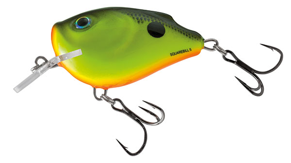 Volber Salmo Squarbell Floating Chartreuse Shad 5cm