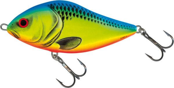 Vobler Salmo Slider Floating Chartreuse Blue 12cm