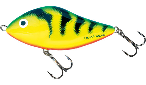 Vobler Salmo Slider Floating Green Tiger 10cm