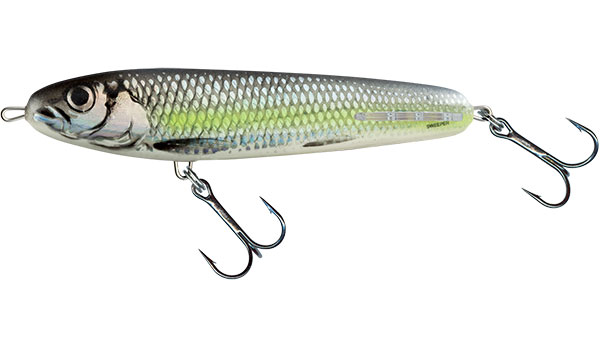 Vobler Salmo Sweeper Sinking Silver Chartreuse Shad 17cm