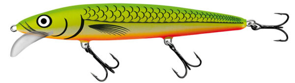 Vobler Salmo Whacky Floating Glowing Flourescent Fish 9cm